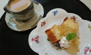 りんごのパウンドケーキ かかや春日部 カフェ